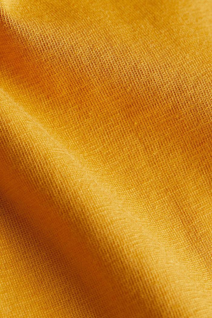 Basic longsleeve met stretch, HONEY YELLOW, detail image number 4