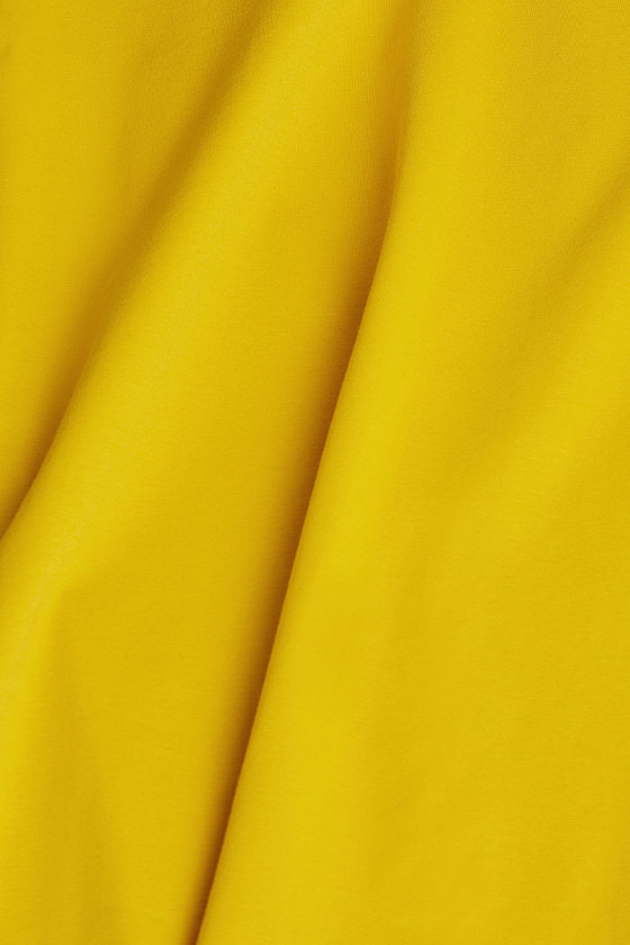 Basic-Longsleeve mit Stretch, BRASS YELLOW, detail image number 4