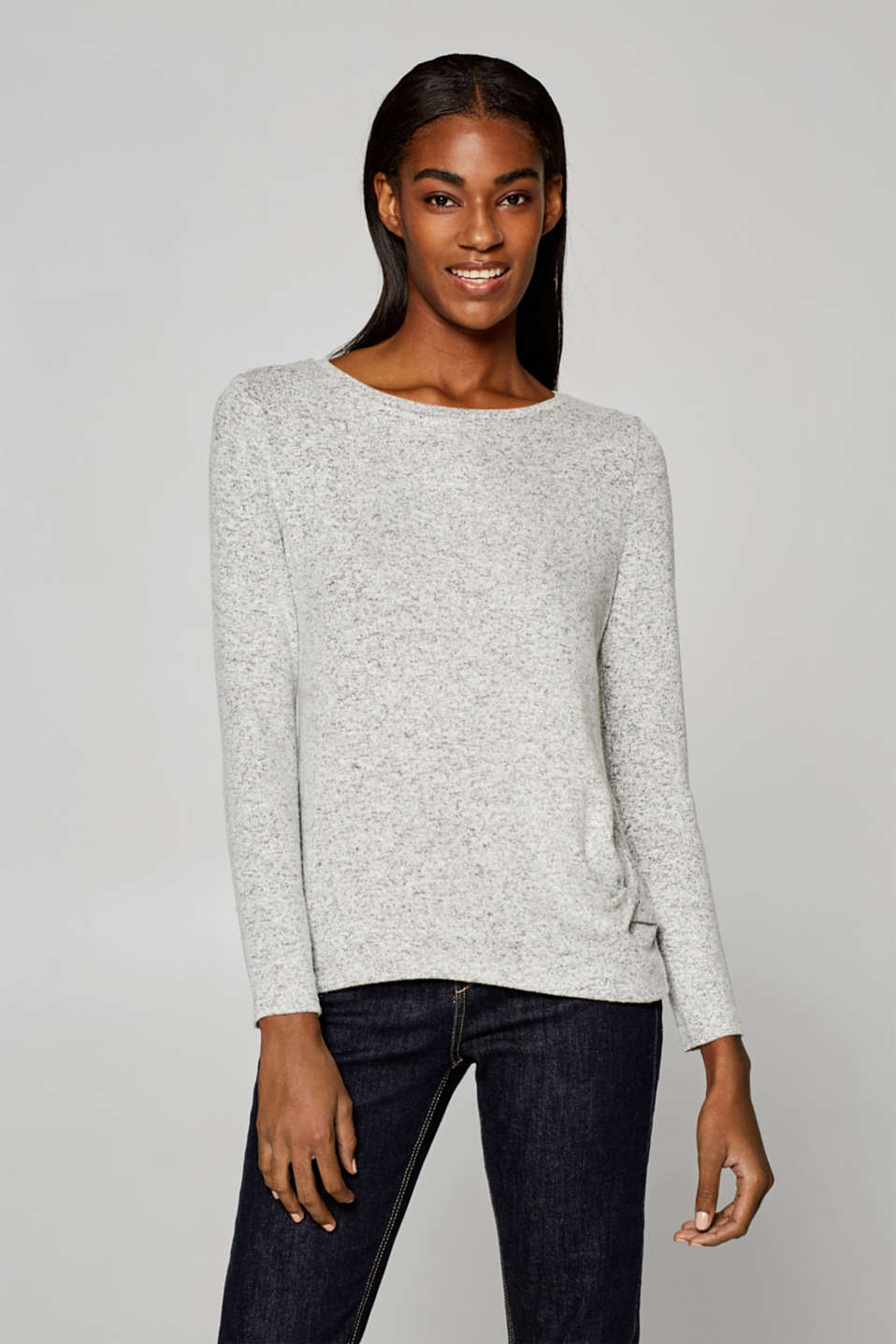 Esprit - Stretch long sleeve top with a knot detail