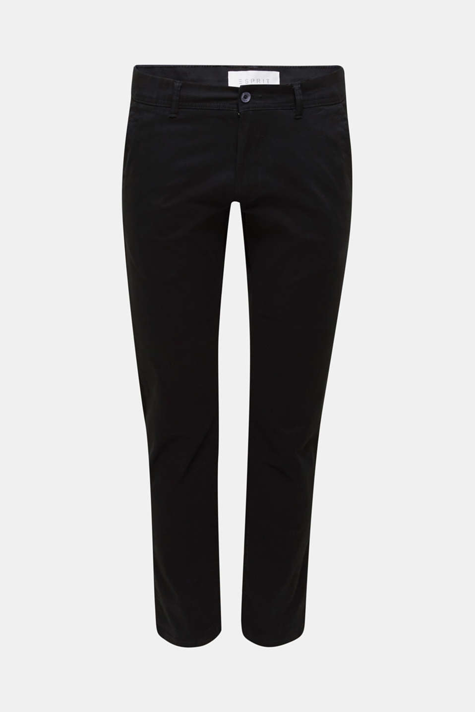 Stretch chinos in stretch cotton, BLACK, detail image number 5