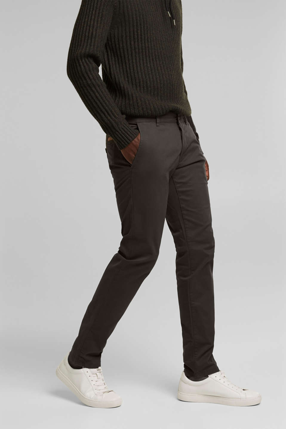 Esprit - Stretch chinos in stretch cotton