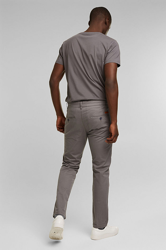 Stretch-Chino aus Baumwoll-Stretch, GREY, detail image number 3