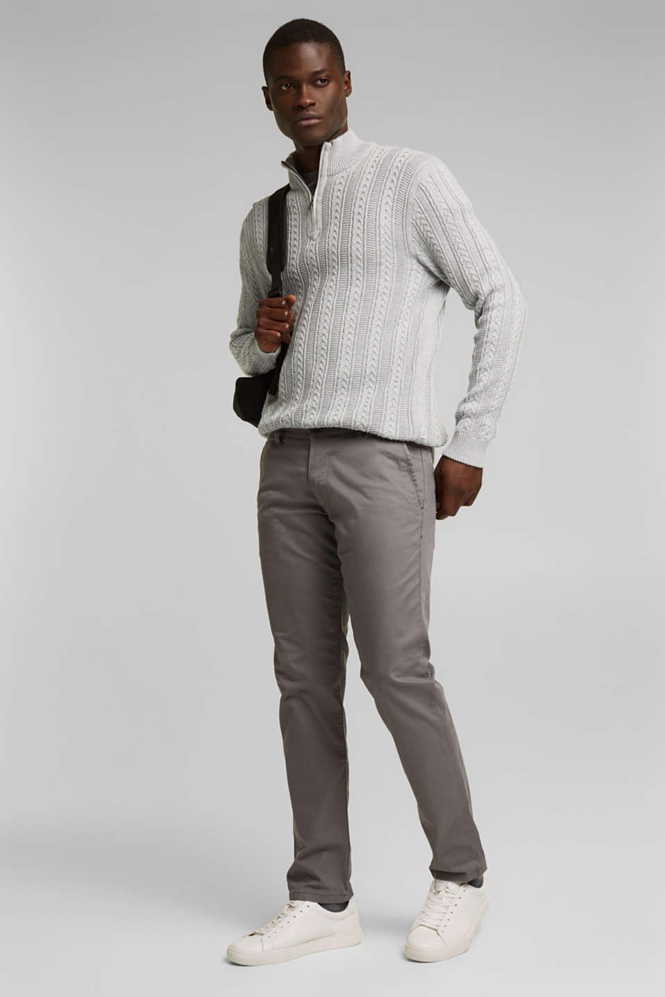 Pants woven Slim fit, GREY, detail image number 1