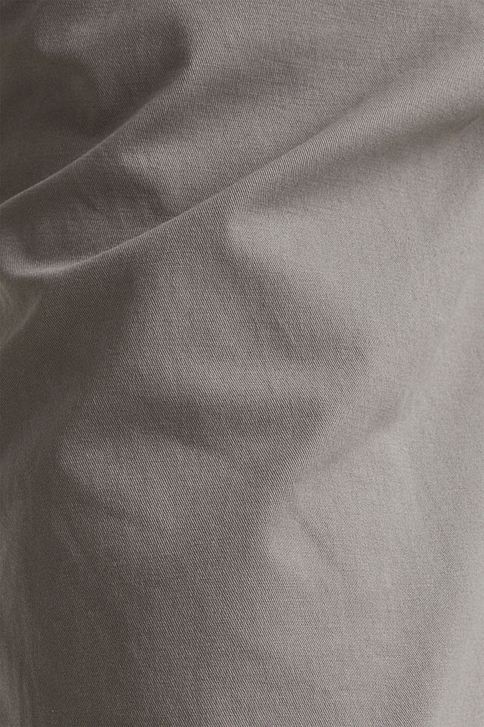 Stretch-Chino aus Baumwoll-Stretch, GREY, detail image number 4