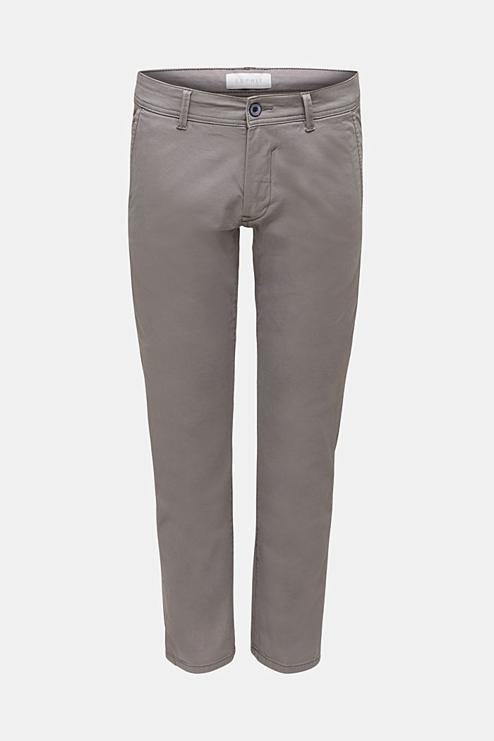 Stretch-Chino aus Baumwoll-Stretch, GREY, detail image number 5