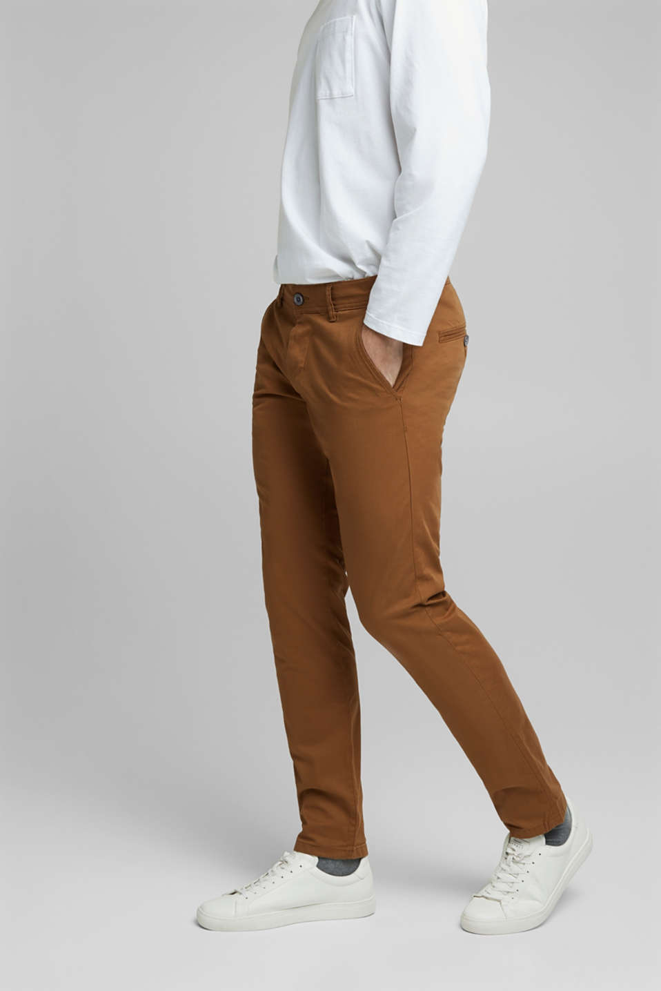 Pants woven Slim fit, CAMEL, detail image number 0