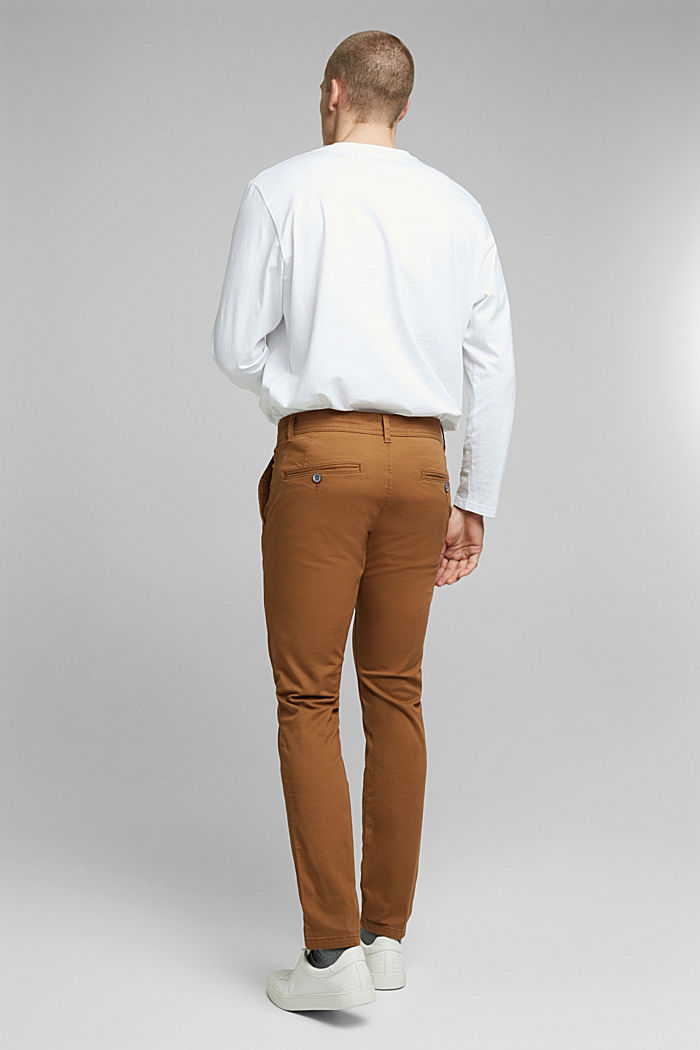 Stretch chinos in stretch cotton, CAMEL, detail image number 3
