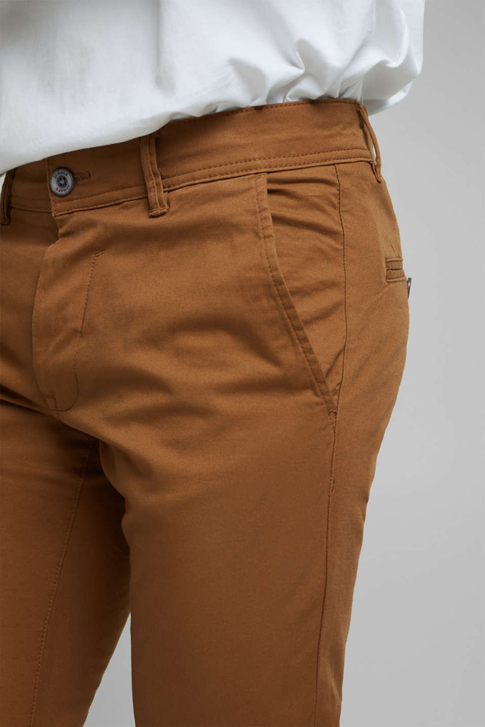 Pants woven Slim fit, CAMEL, detail image number 2