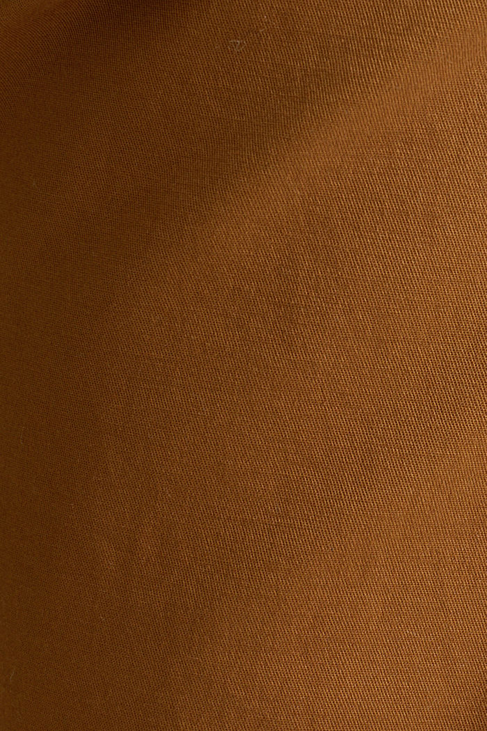Chino van katoen-stretch, CAMEL, detail image number 4