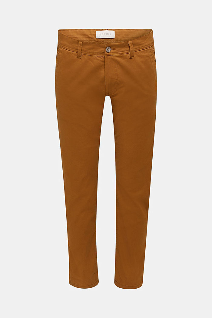 Stretch-Chino aus Baumwoll-Stretch, CAMEL, detail image number 6