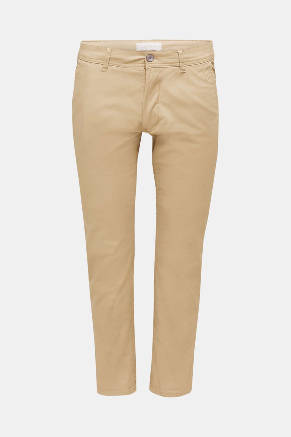 Stretch chinos in stretch cotton, BEIGE, detail image number 5