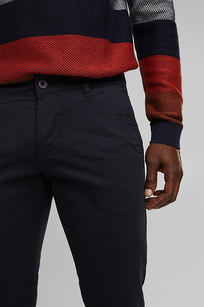 Stretch chinos in stretch cotton, NAVY, detail image number 2