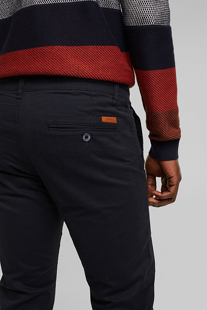 Stretch chinos in stretch cotton, NAVY, detail image number 4
