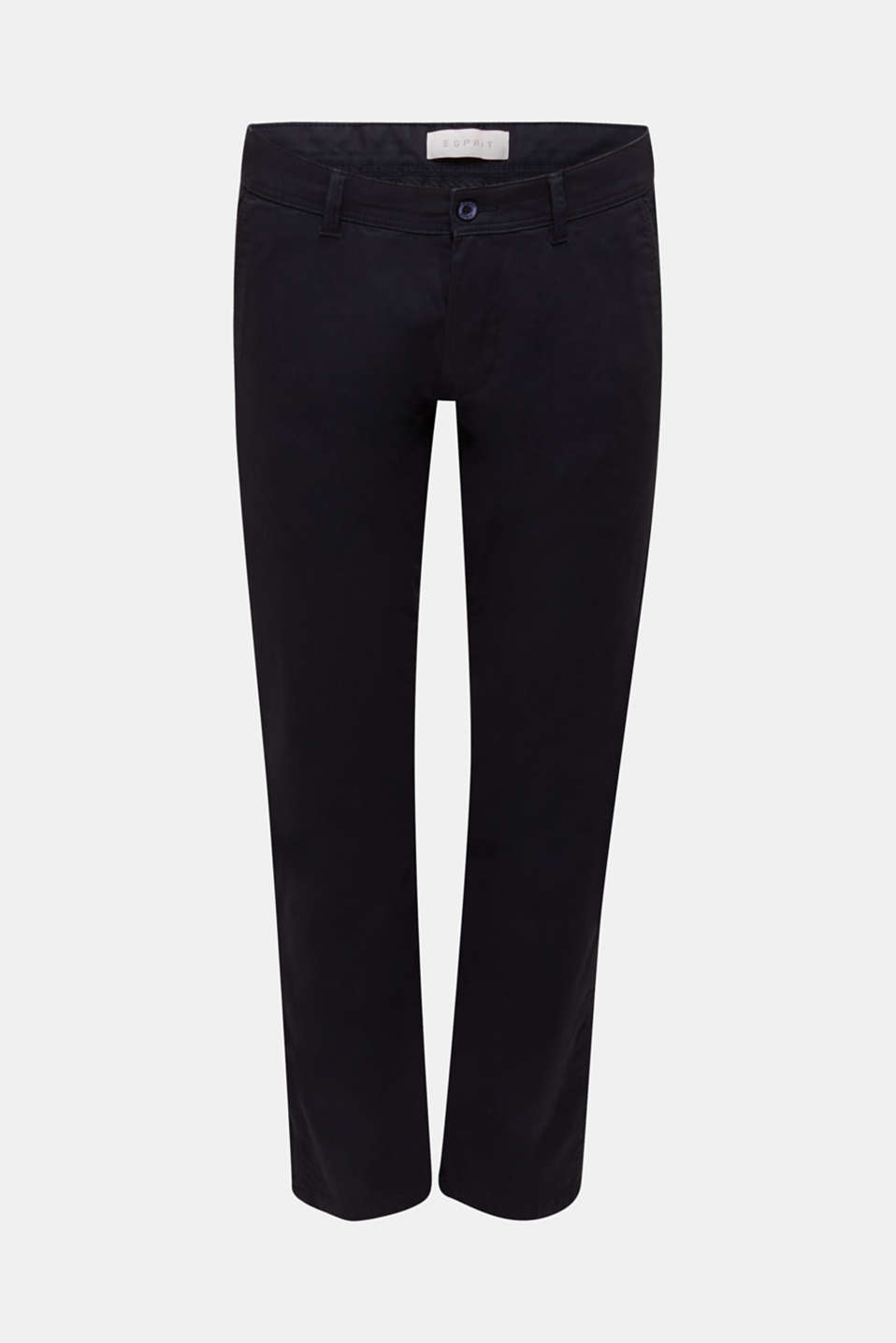 Stretch chinos in stretch cotton, NAVY, detail image number 6