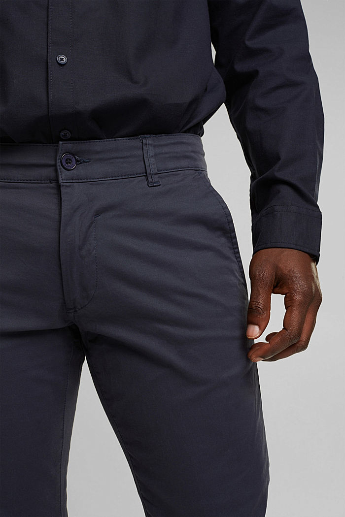 Stretch chinos in stretch cotton, BLUE, detail image number 2