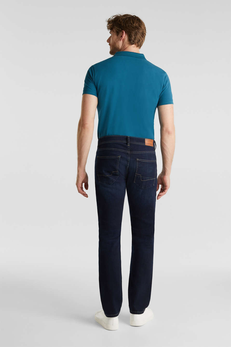 Dark stretch jeans with organic cotton