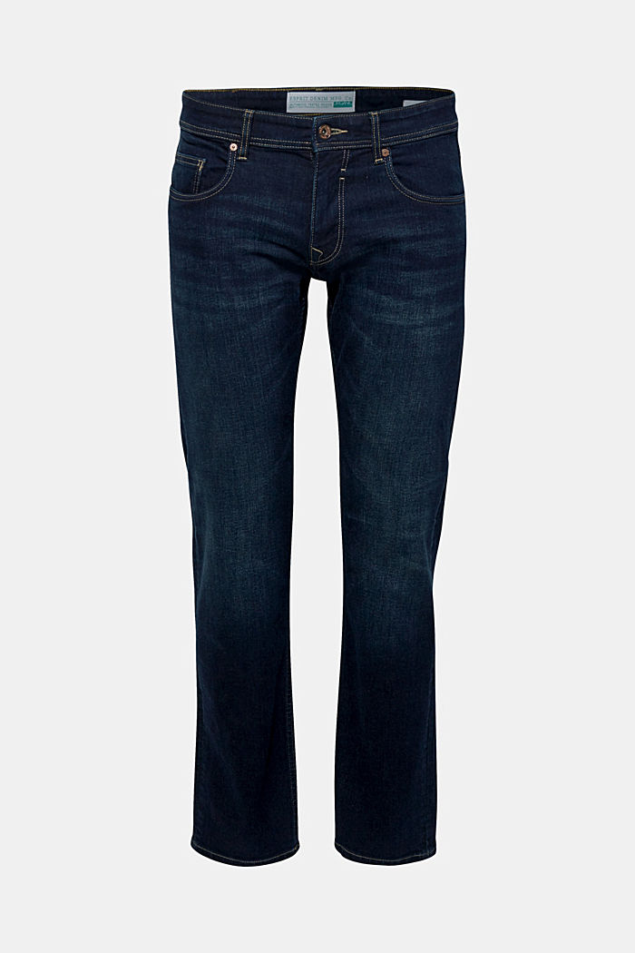Stretch jeans containing organic cotton, BLUE DARK WASHED, detail image number 1