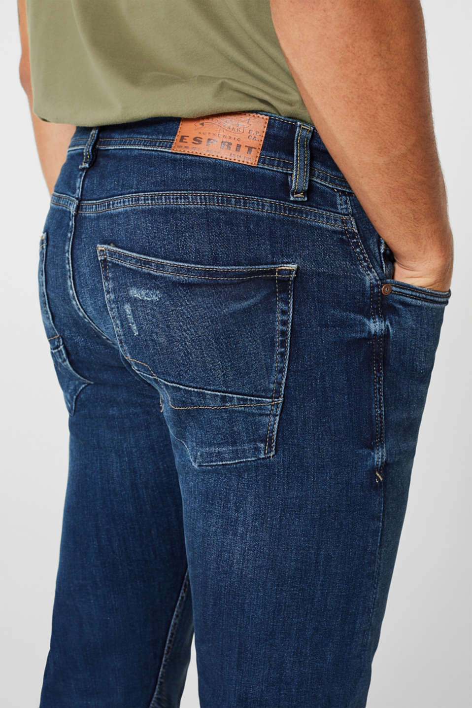 Stretch jeans containing organic cotton, BLUE MEDIUM WASH, detail image number 3