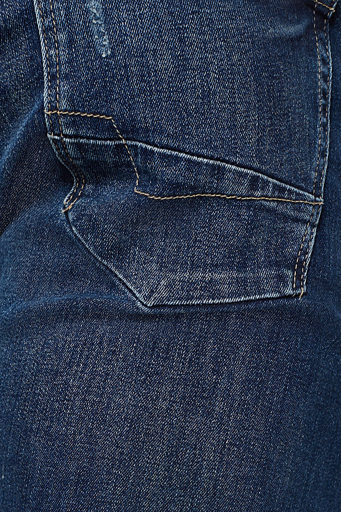 Stretch jeans containing organic cotton, BLUE MEDIUM WASHED, detail image number 4