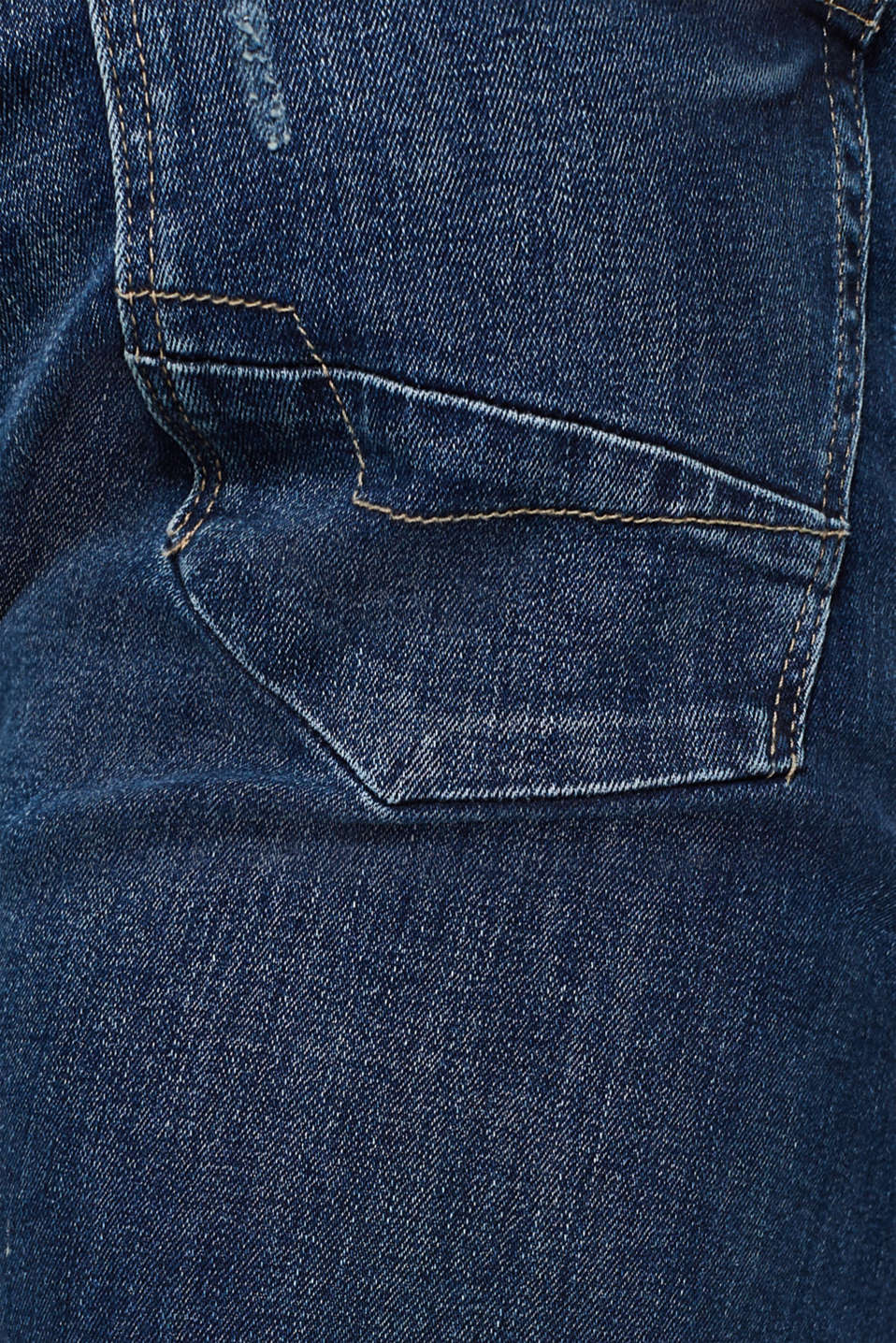 Stretch jeans containing organic cotton, BLUE MEDIUM WASH, detail image number 4