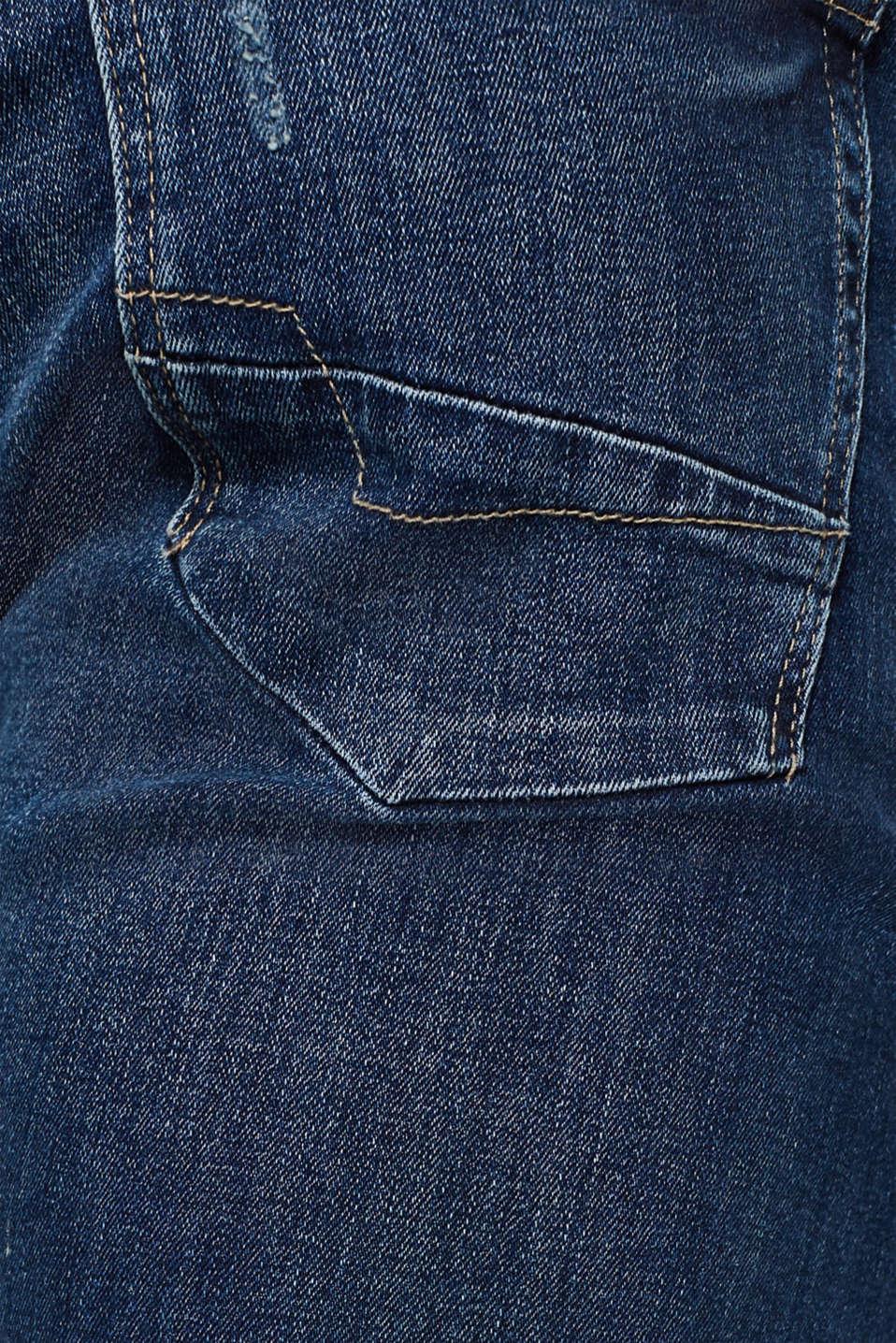 Pants denim Straight fit, BLUE MEDIUM WASH, detail image number 4
