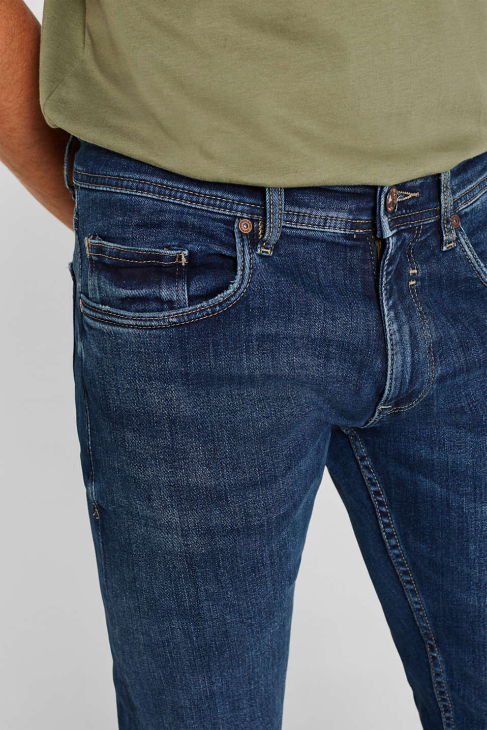 Pants denim Straight fit, BLUE MEDIUM WASH, detail image number 5