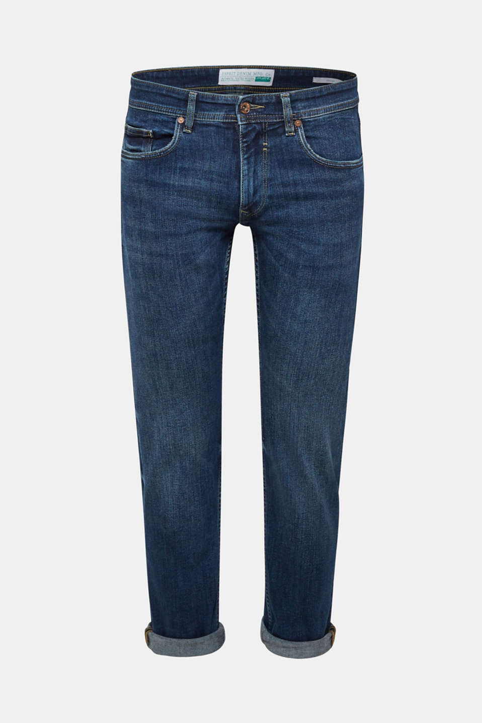Stretch jeans containing organic cotton, BLUE MEDIUM WASH, detail image number 6