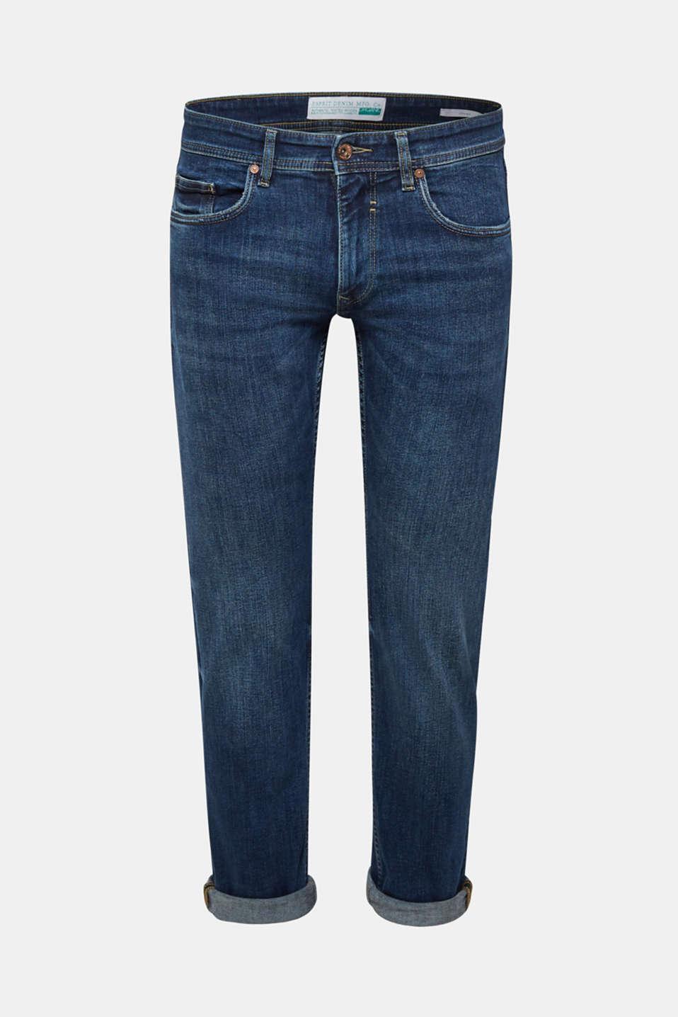 Pants denim Straight fit, BLUE MEDIUM WASH, detail image number 6