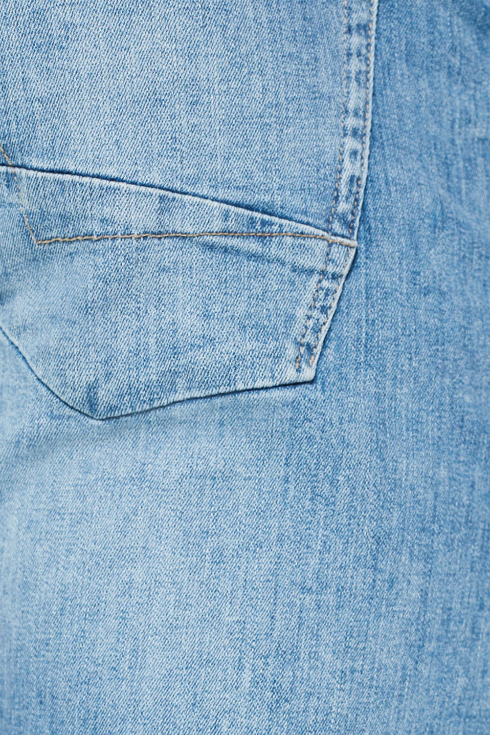 Stretch jeans containing organic cotton, BLUE LIGHT WASH, detail image number 4