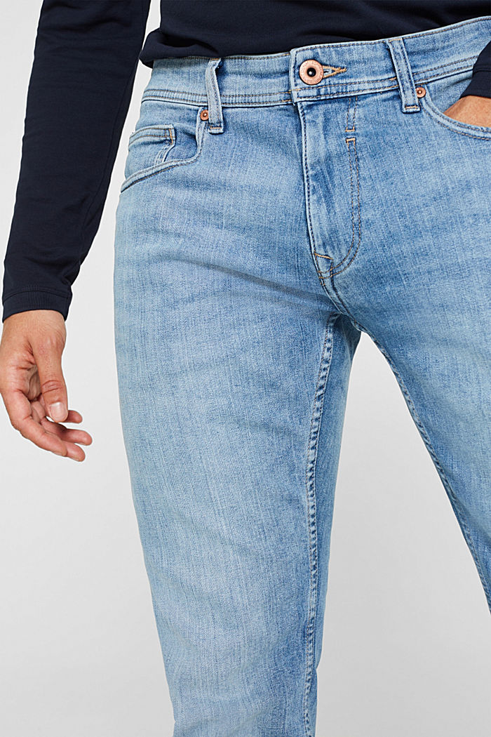 Stretch-Jeans mit Organic Cotton, BLUE LIGHT WASHED, detail image number 5