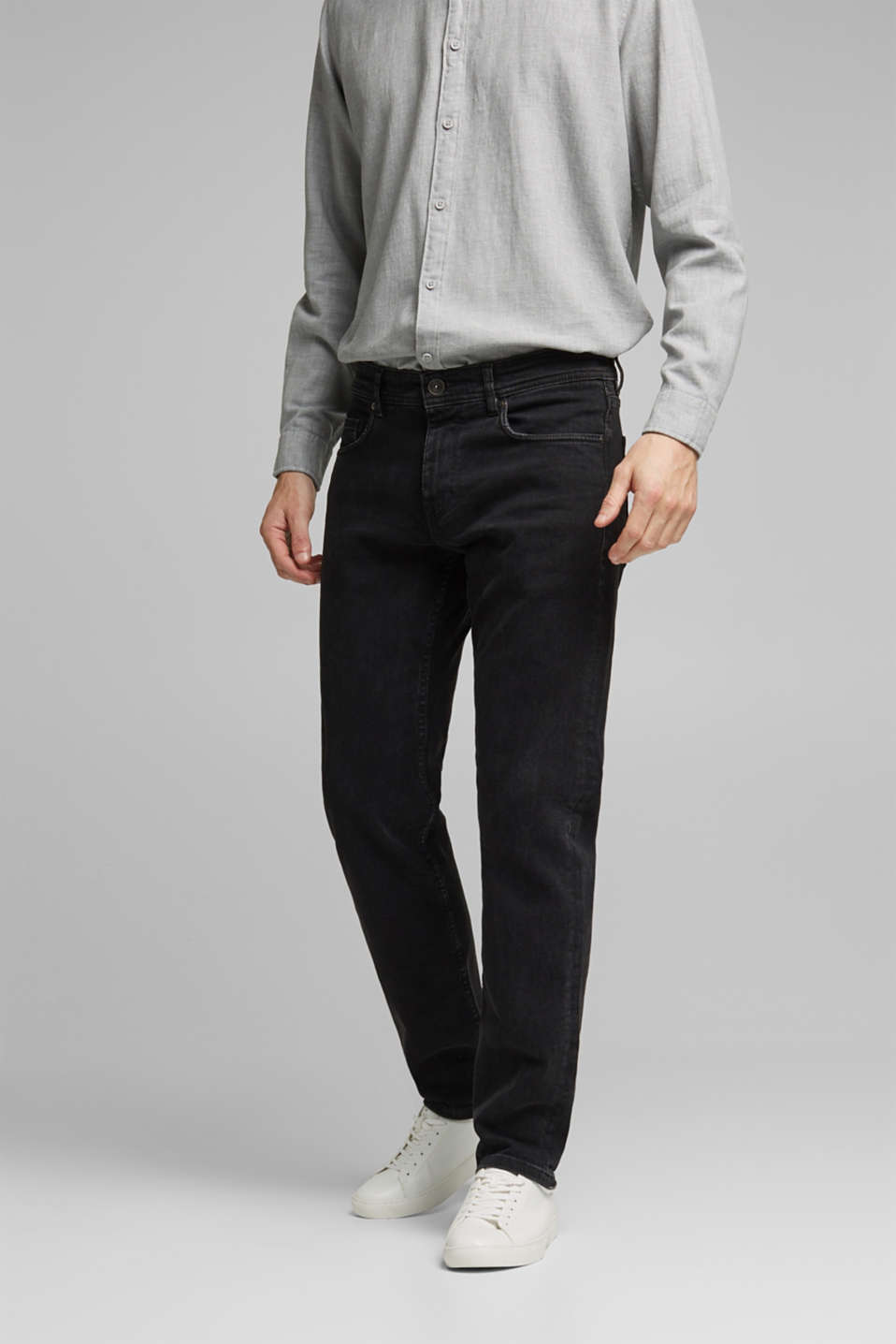 Esprit - Stretch-Jeans im Washed Out-Look