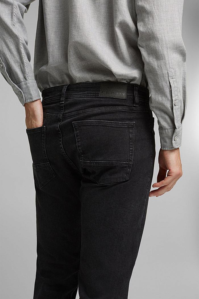Stretch-Jeans im Washed Out-Look, BLACK DARK WASHED, detail image number 3