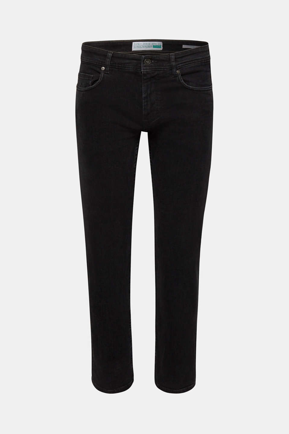 Stretch jeans in a washed out look, BLACK DARK WASH, detail image number 6