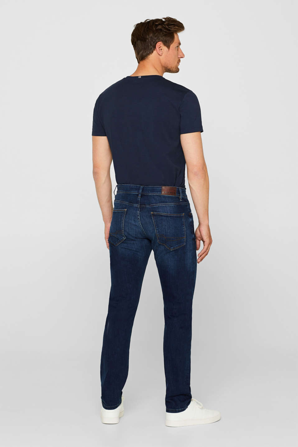 Stretch jeans containing organic cotton, BLUE MEDIUM WASH, detail image number 1