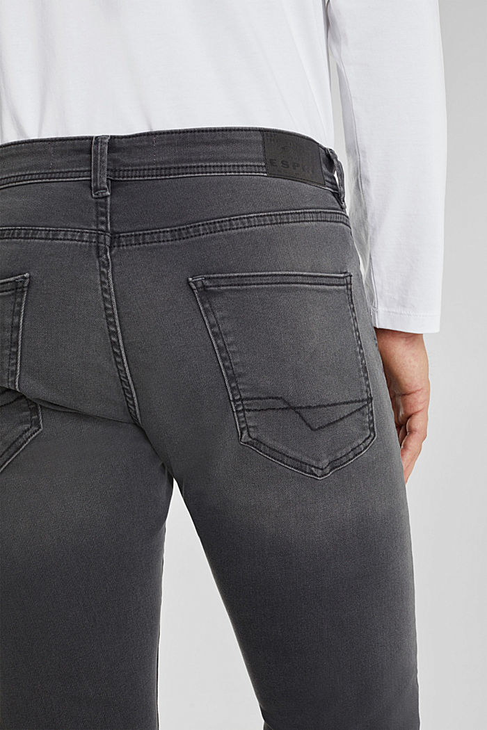 Stretch-Jeans mit Organic Cotton, GREY MEDIUM WASHED, detail image number 5