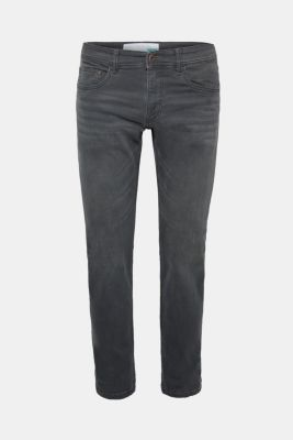 Stretch jeans containing organic cotton, GREY MEDIUM WASH, detail