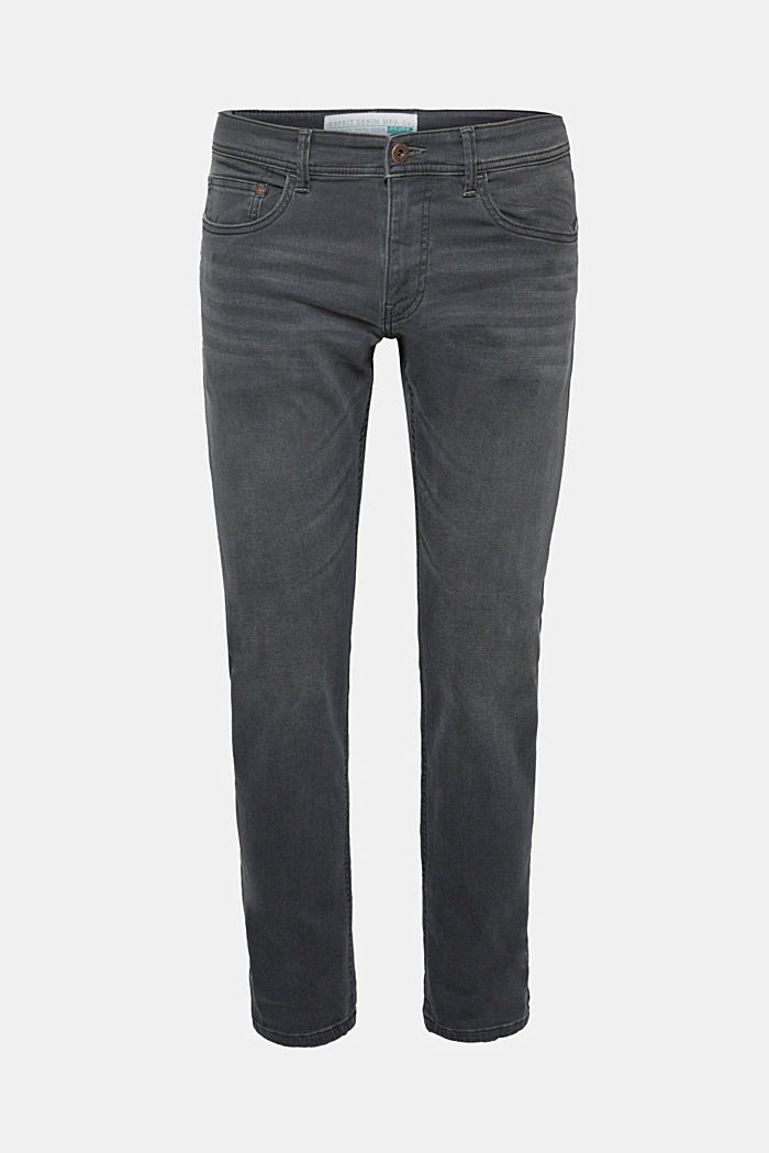 Stretch-Jeans mit Organic Cotton, GREY MEDIUM WASHED, detail image number 6