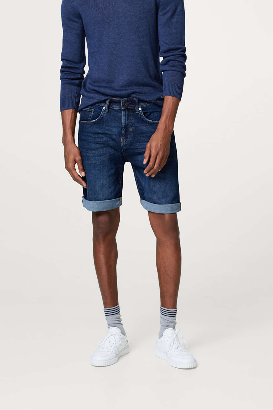 Esprit - Organic cotton denim Bermudas