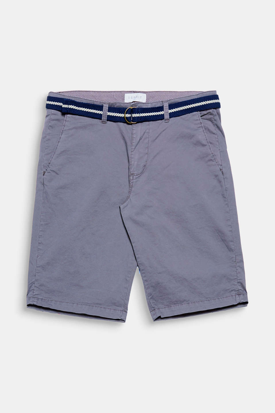 The nautical striped woven belt gives these shorts a sporty look.