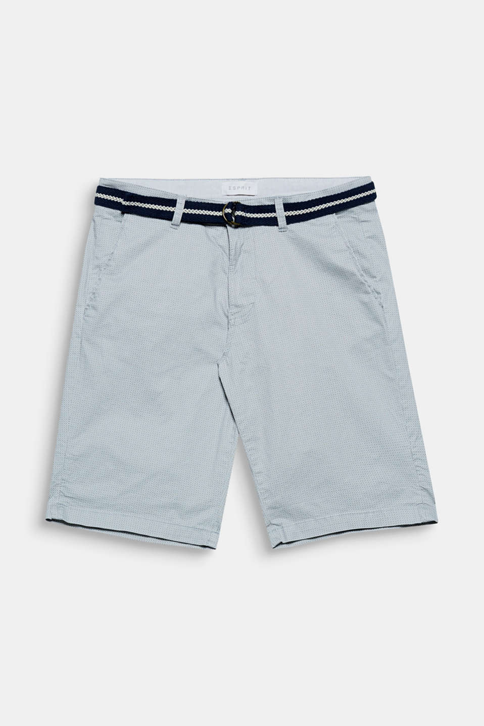 The mini print and the textured woven belt give these cotton shorts their summery feel!
