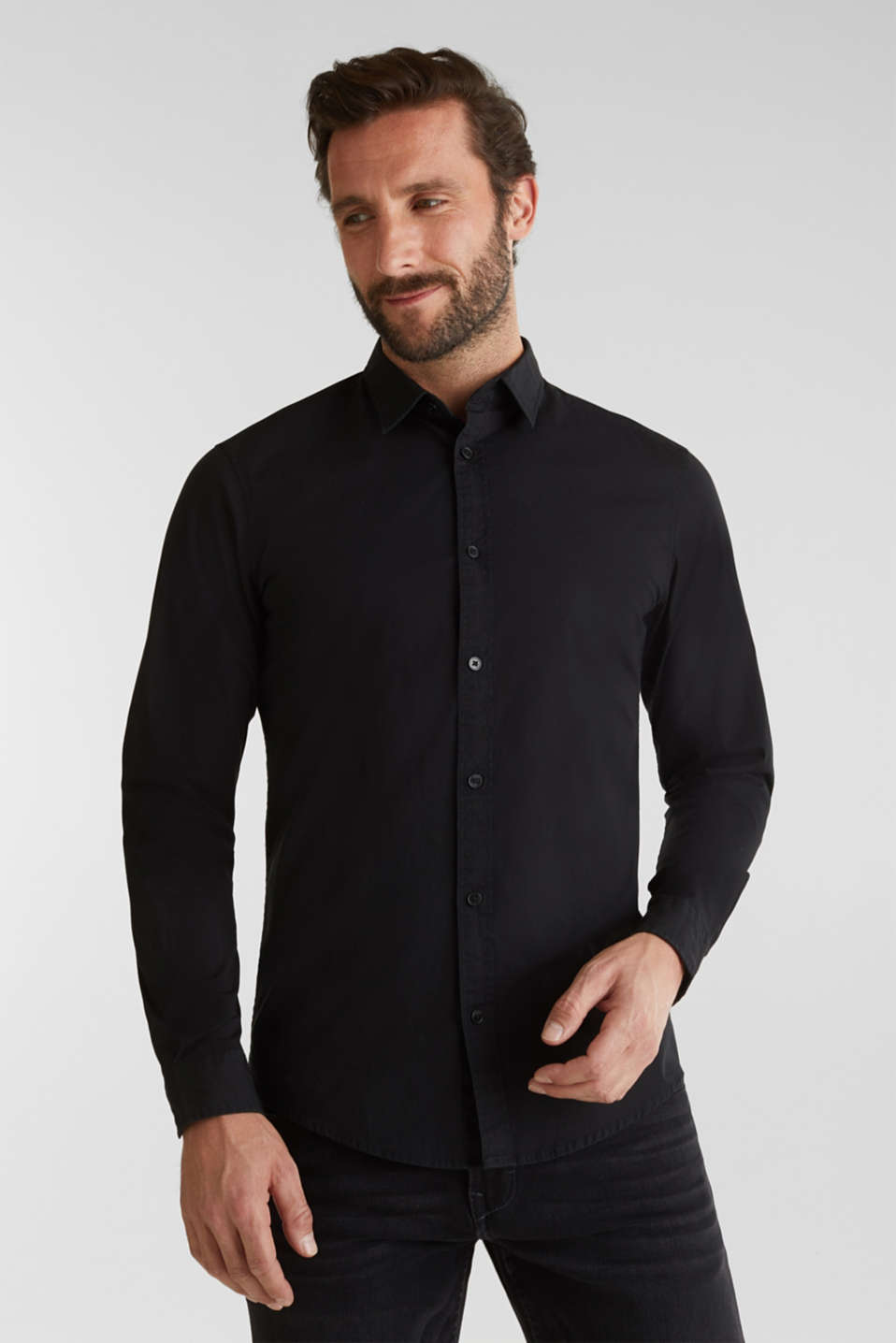 Shirts woven Slim fit, BLACK 2, detail image number 0