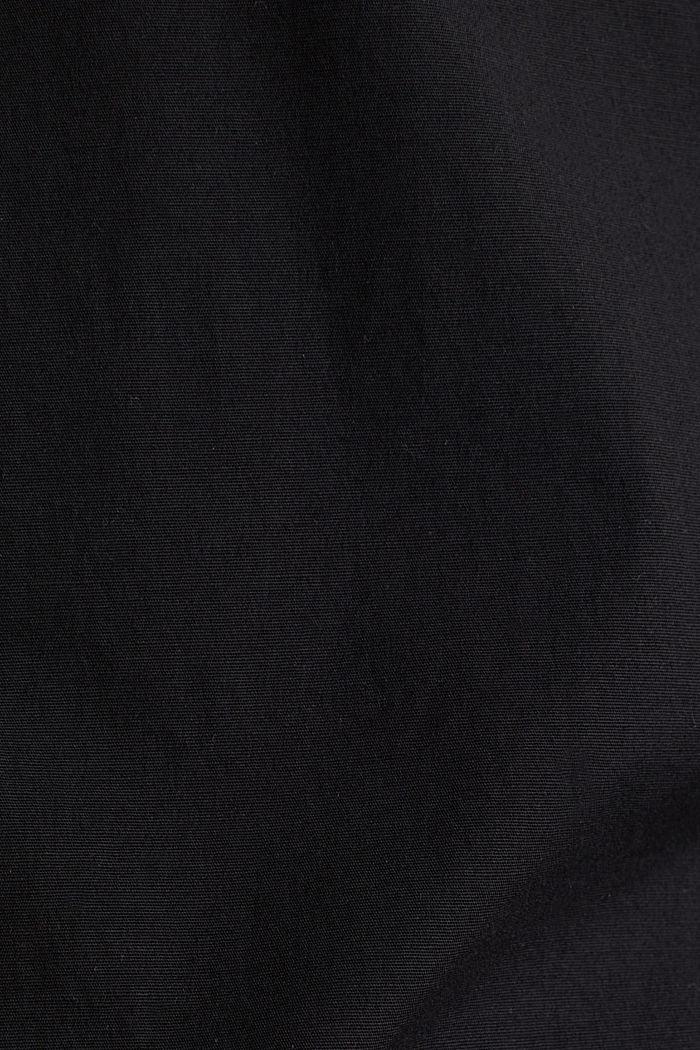 Poplin top in stretch cotton, BLACK, detail image number 3