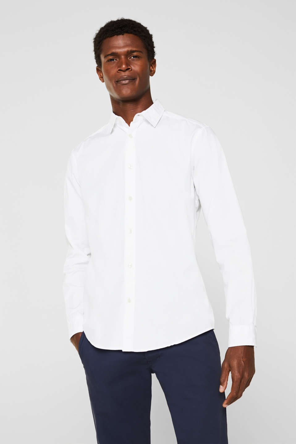Esprit - Stretch cotton shirt
