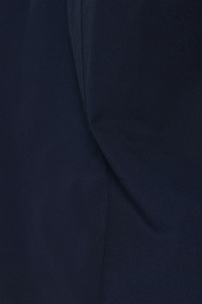 Poplin top in stretch cotton, NAVY, detail image number 4