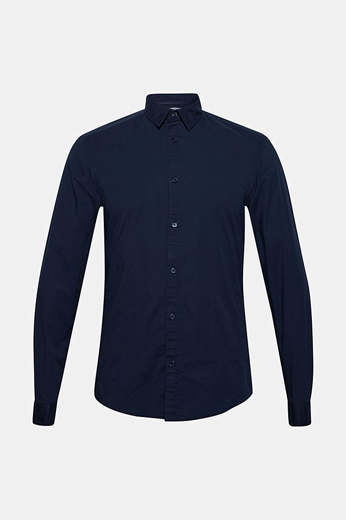 Popeline-Hemd aus Baumwoll-Stretch