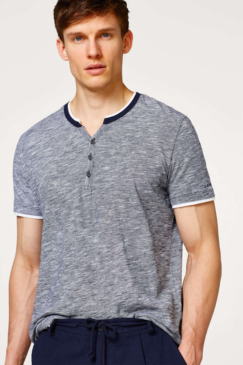 Esprit - Layer-Shirt aus Jersey, Organic Cotton