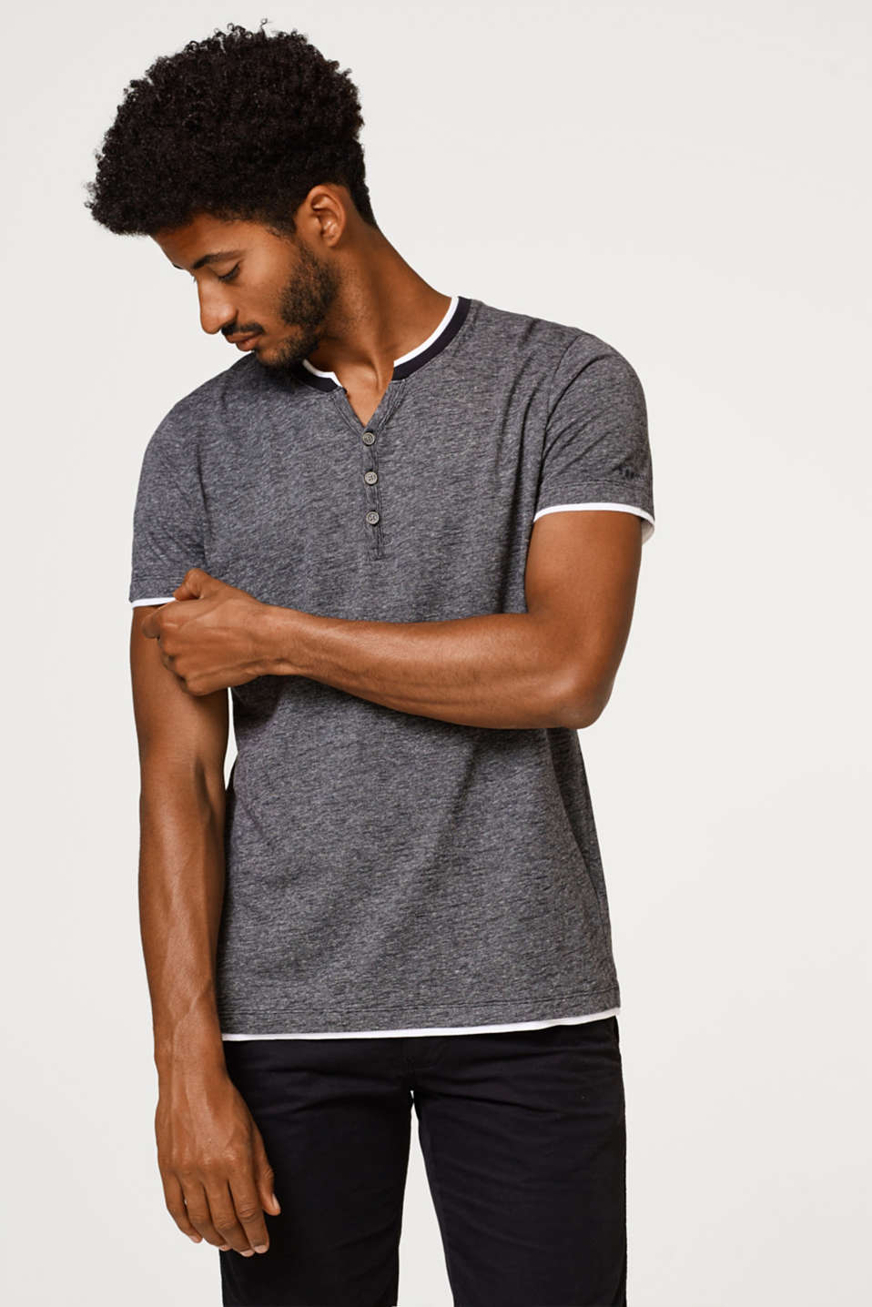 Esprit - Layered jersey T-shirt, organic cotton