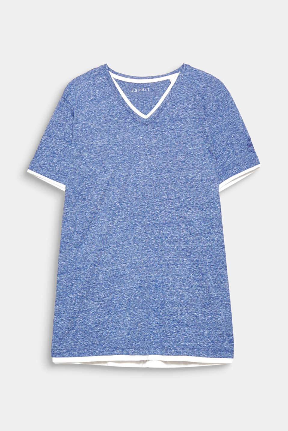 We love layering! Contrasting colour trim gives this T-shirt an exciting layered look.
