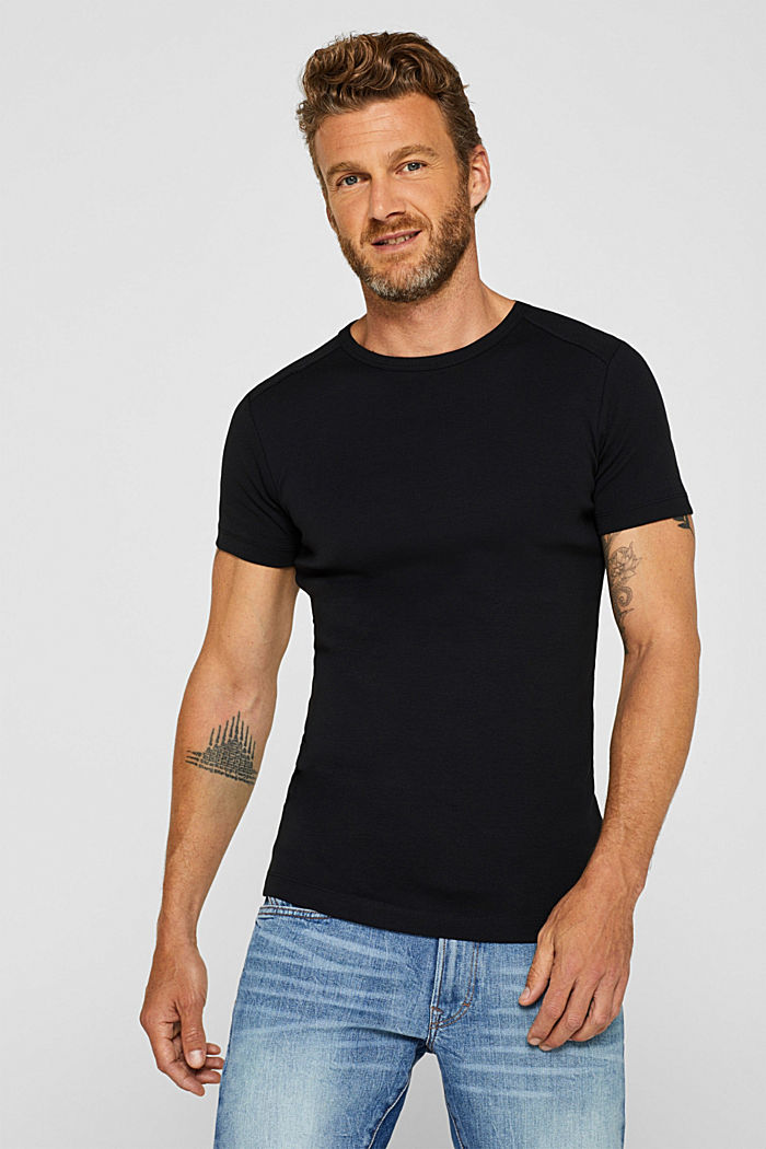 Jersey T-shirt in 100% cotton, BLACK, detail image number 0