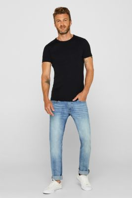 Jersey T-shirt in 100% cotton, BLACK, detail
